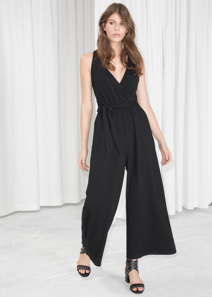 professional website custom authentic quality And Other Stories Belted Jumpsuit   Halle Berry's Deep V ...