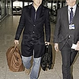 George Clooney left London after the BAFTAs.