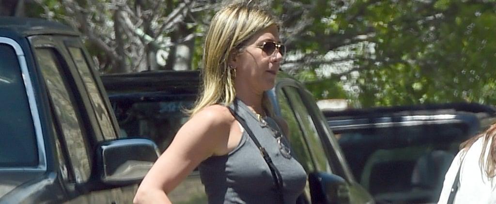 Jennifer Aniston's Silver Sandals