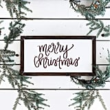 Sweet Water Merry Christmas Wood Sign