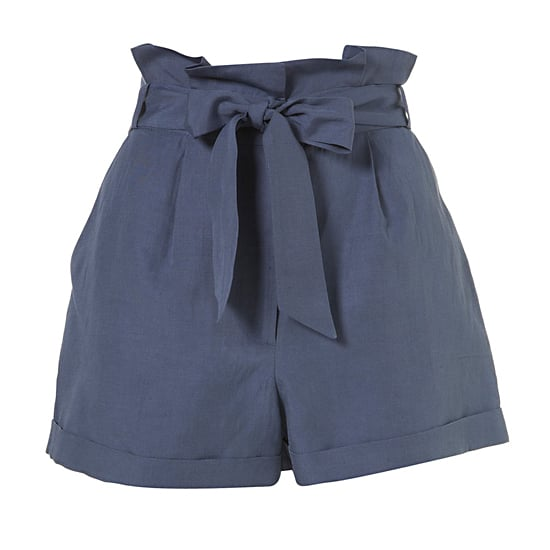 "Topshop Cornflower Paperbag Waist Shorts, $70   Pair with: <iframe src=""http://widget.shopstyle.com/widget?pid=uid5121-1693761-41&look=3445759&width=3&height=3&layouttype=0&border=0&footer=0"" frameborder=""0"" height=""244"" scrolling=""no"" width=""286""></iframe>"