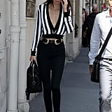 During Paris Fashion Week Later That Summer, She Slipped Into a Striped Top