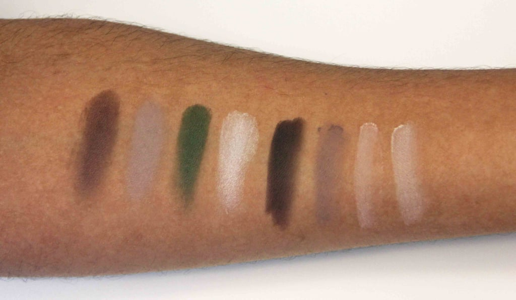 Kardashian Beauty Touch Tones Gradient Eye Color Set in Matte About You Swatched on Medium to Dark Skin