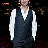 Brad Pitt at the Moneyball afterparty.