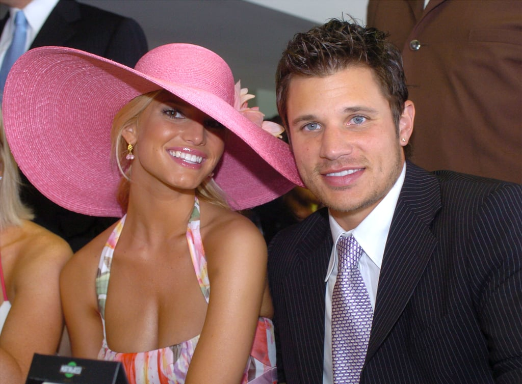 Jessica wore her best (and biggest) hat for the Kentucky Derby in May 2004.