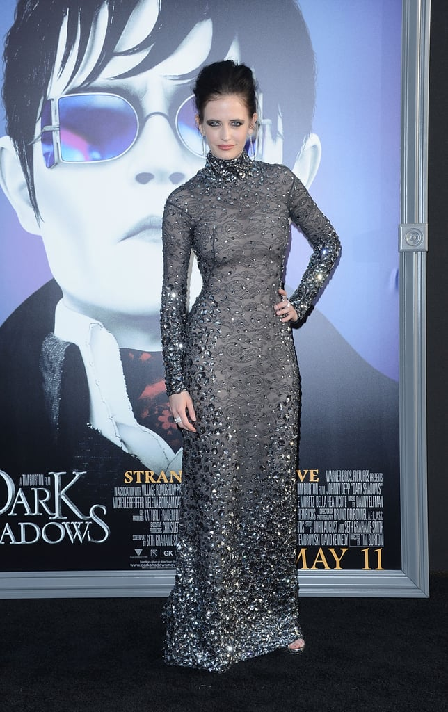 Eva Green wore a long beaded dress to the Dark Shadows premiere in LA.