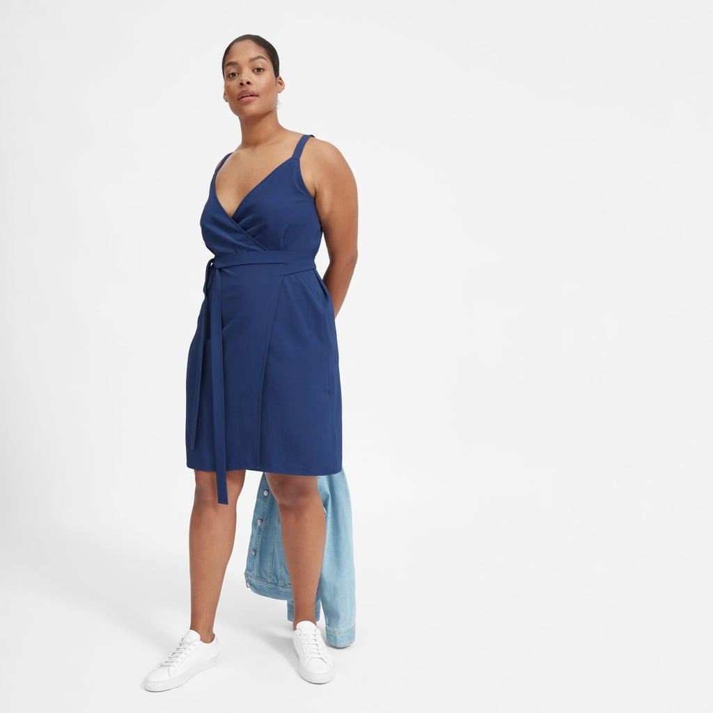 Everlane Japanese GoWeave Tank Mini Wrap Dress