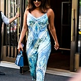 Priyanka Chopra Slip Dress by Hale Bob in NYC