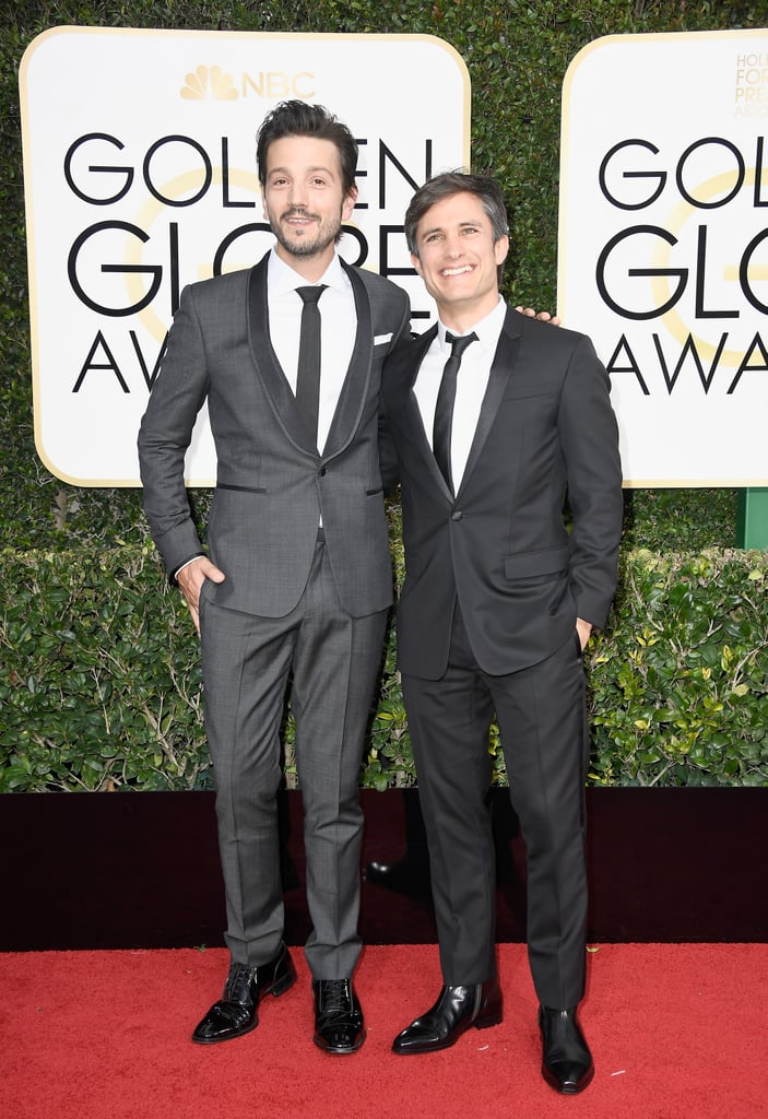"Mozart in the Jungle's Gael García Bernal and his longtime pal Rogue One actor Diego Luna turned the 2017 Golden Globe Awards red carpet at the Beverly Hilton Hotel into a BFF photo opp. The famous friends relished the opportunity to pose before the cameras ahead of the highly anticipated event, and we couldn't help but notice how supportive they are of each other's careers.  Diego took to Twitter on their way to the red carpet, where he posted a car selfie with Gael, who is nominated for best actor in a TV musical or comedy, captioning the dapper moment with a sweet note of encouragement: ""En camino!!! Here we go!!! #goldenglobes #VamosPorElBicampeonatoGael."" So fun! Keep scrolling to see more of their adorable time on the red carpet, then discover everything you need to know about Gael.      Related:                                                                Diego Luna Just Perfectly Highlighted the Importance of Latino Representation in Hollywood With This Tweet                                                                   These 16 Pictures Confirm Diego Luna Gets Better With Age"