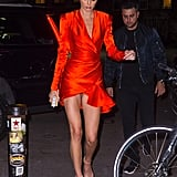 Kendall Jenner Red Wrap Dress