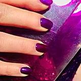 Emilia Clarke's Purple Nail Polish Colour