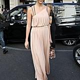 Karlie Kloss Wore a Grecian Dress Between Shows During PFW