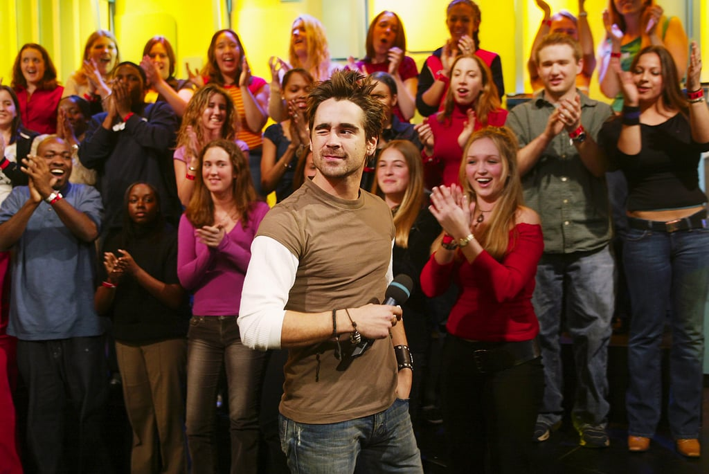 Colin Farrell gave a wink to fans when he arrived at MTV Studios for TRL in 2003.
