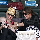 Gwen and Zuma at Tennis Tournament