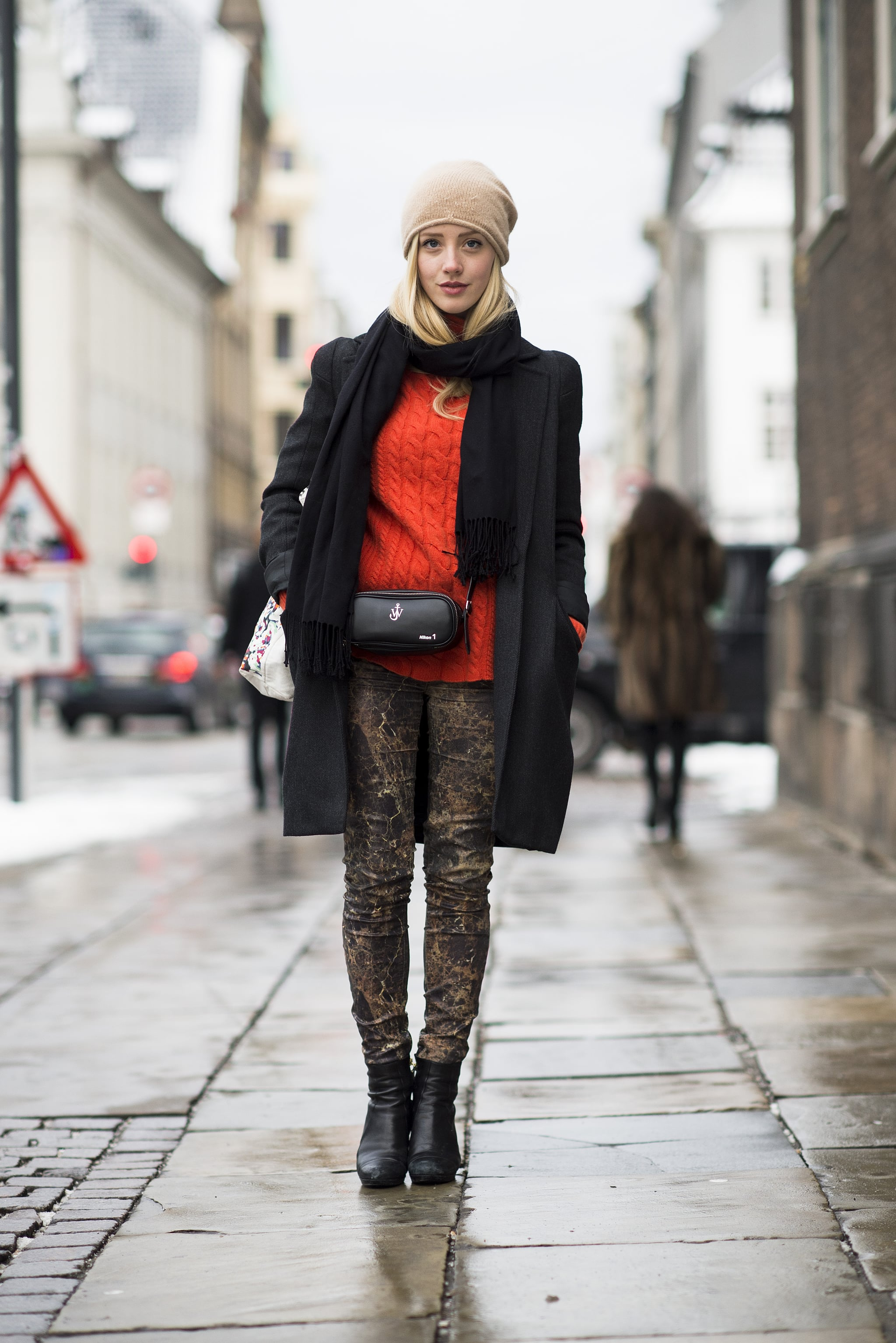 Practicality doesn't have to trump style. Just perk up your layers with a bright knit. Source: Le 21ème   Adam Katz Sinding