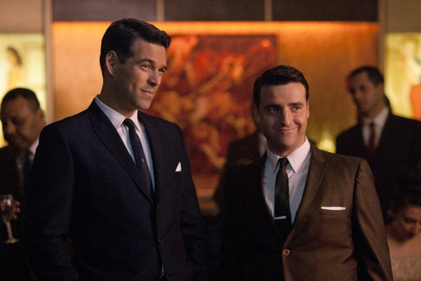 Eddie Cibrian as Nick Dalton and David Krumholtz as Billy on NBC's The Playboy Club.