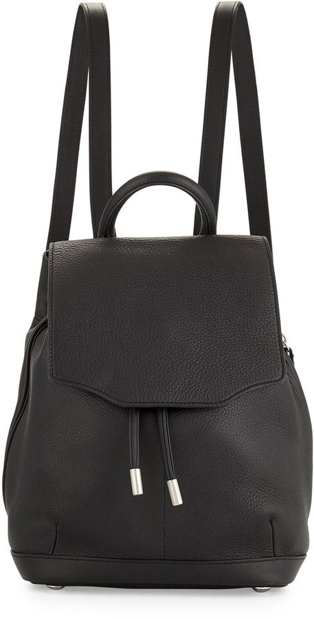 Rag and Bone Rag & Bone Pilot Mini Leather Backpack, Black