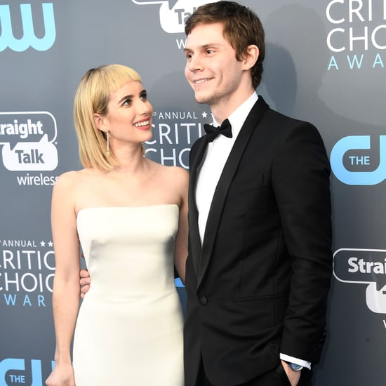 Evan Peters and Emma Roberts at 2018 Critics' Choice Awards