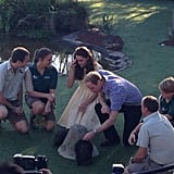 Kate and William looked at animals at the zoo. Source: Twitter user byEmilyAndrews