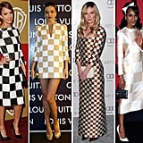 We'll just say it: the checkerboard print may be it this season.