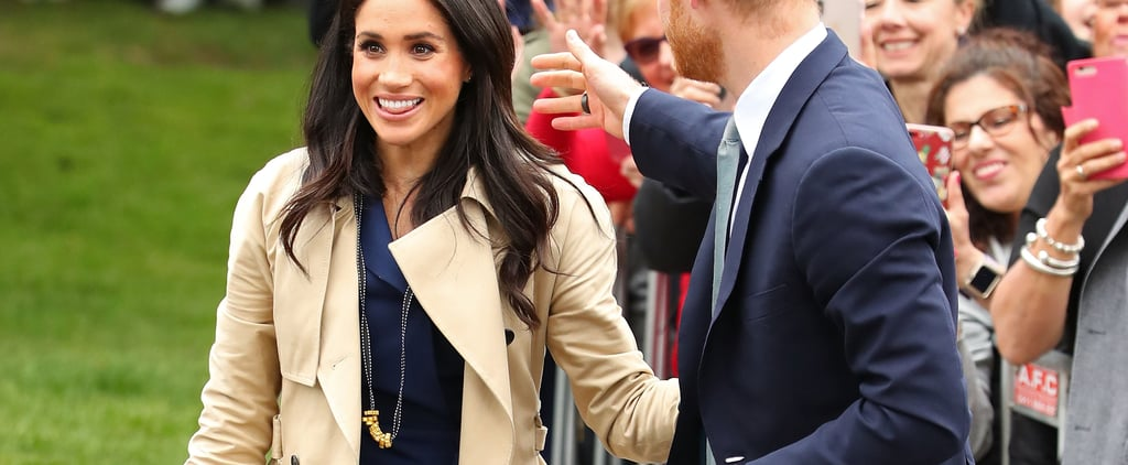 Kid Gives Meghan Markle a Pasta Necklace in Melbourne 2018