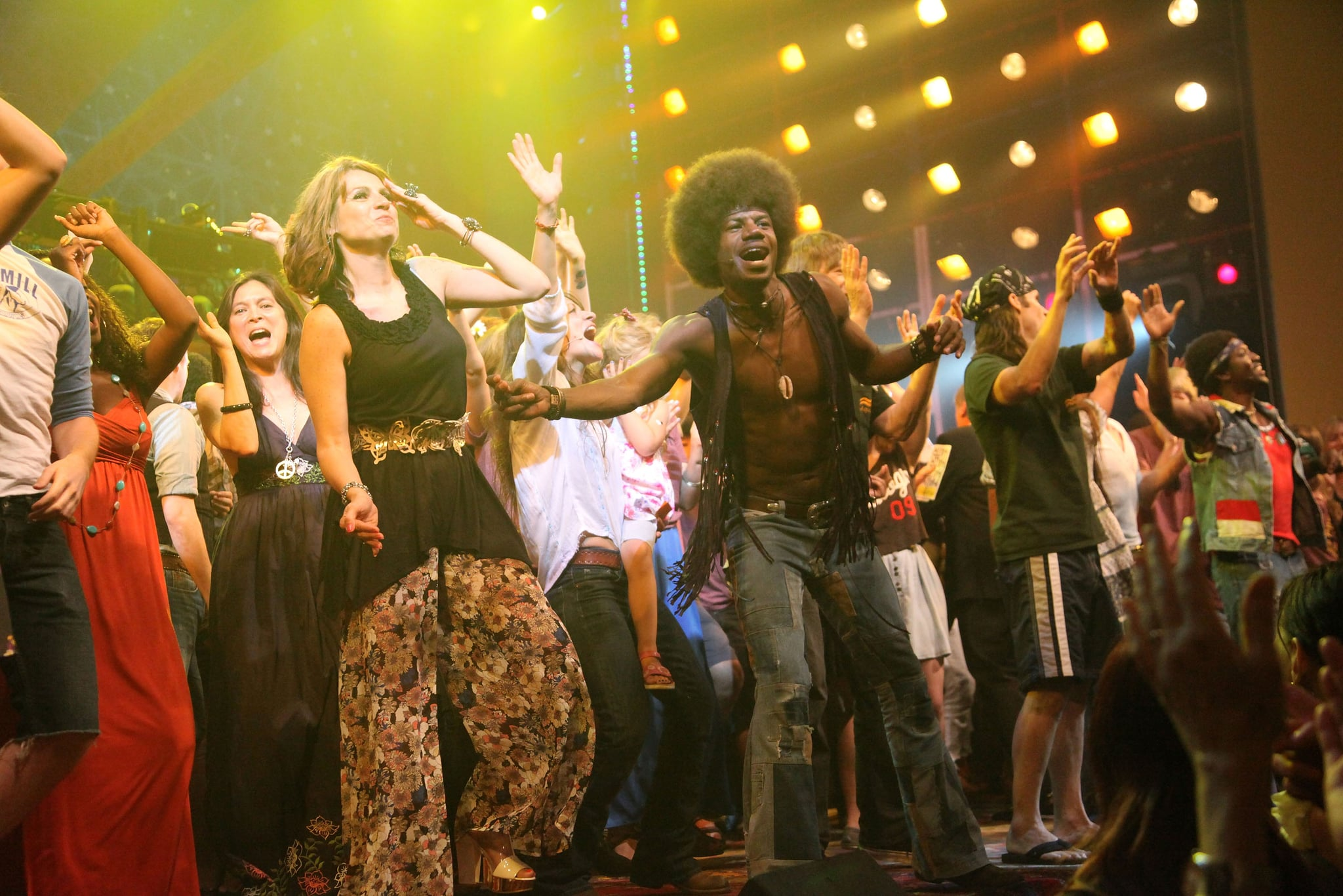 NEW YORK, NY - JULY 13:  The curtain call and dance party for the
