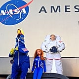 """A special visit from Venus Barbie and Canadian Astronaut Chris Hadfield (the 2D version) to NASA Ames. Chris is scheduled to launch to the International Space Station later this year and will become the first Canadian Commander of the ISS. Venus Barbie does STEM outreach, getting girls interested in science, technology, engineering and math. #NASA #CSA #Canada #STEM"" Source: Instagram user camillasdo"