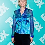 Jane Lynch partied in support of Glee's network.
