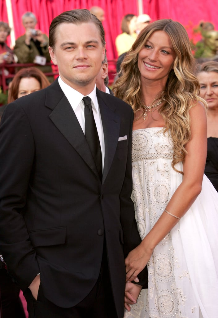 At the March 2005 Academy Awards, Leo walked the red carpet with then-girlfriend Gisele Bündchen on his arm.