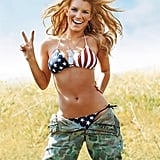 Jessica Simpson showed her stars and stripes in the pages of GQ in 2005.