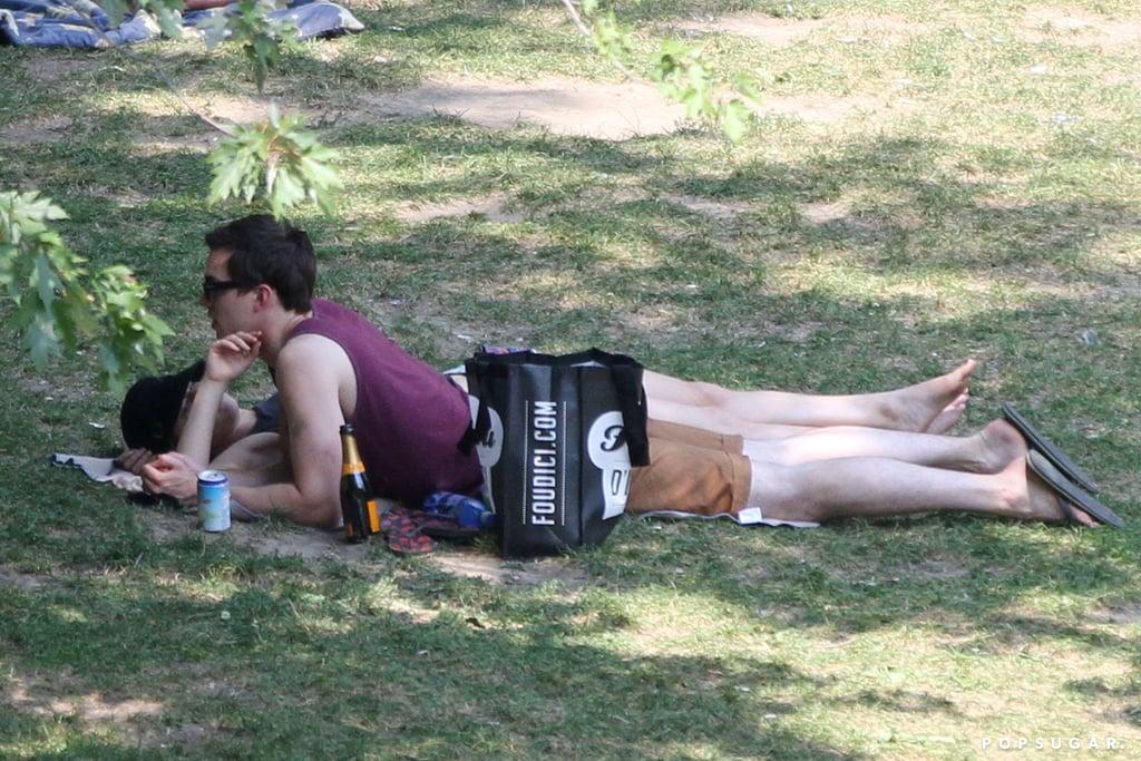 Jennifer Lawrence Reads Mockingjay on a Sexy Park Date