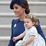 Prince Charlotte and Prince George stole the show when they joined their parents for the royal tour of Canada in September.