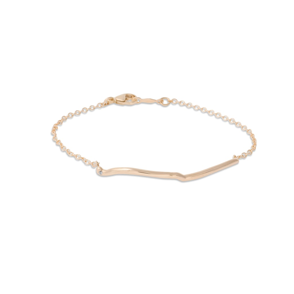 """""""I'm obsessed with this delicate gold bracelet, which is an actual replica of the line drawn between two distinct locations on a map. Shahla Karimi's Custom Destination Pendant Bracelet ($400) is an easy must have if you've got a best friend, family member, or SO who lives far away."""" — SW"""