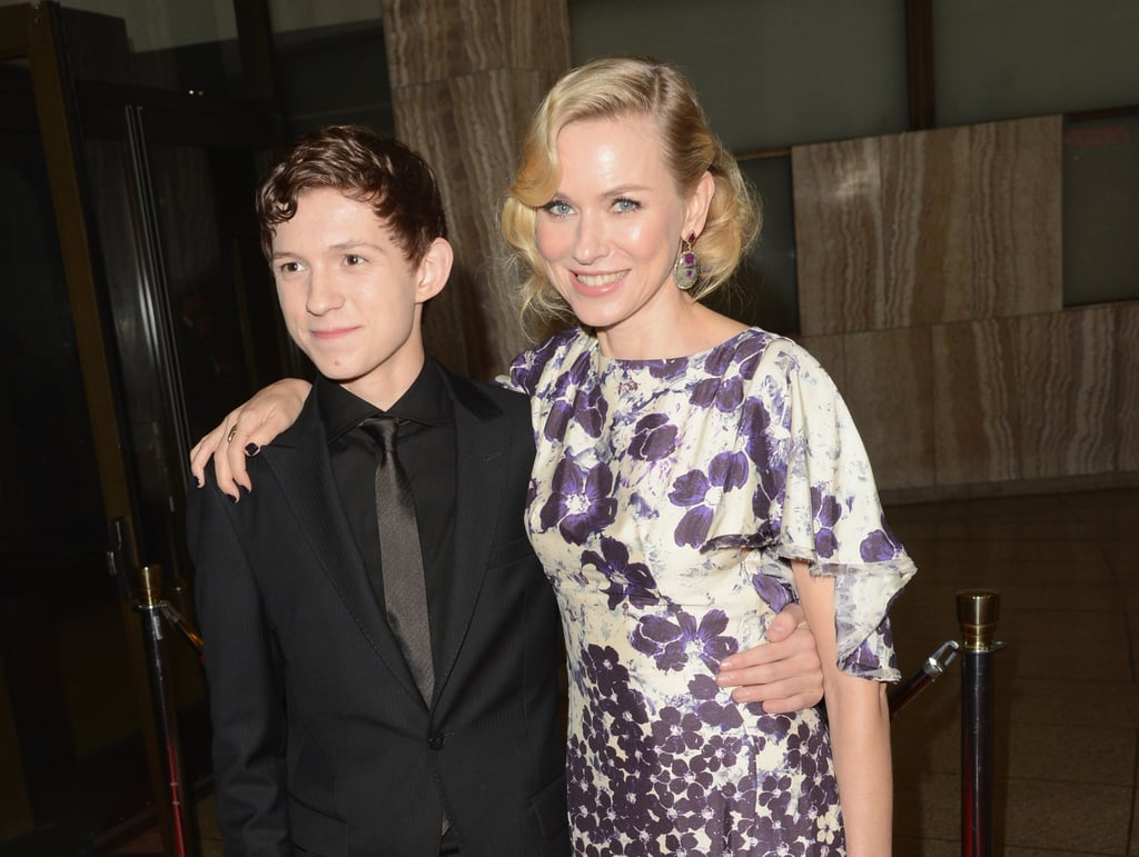 Naomi Watts shared a hug with Tom Holland.