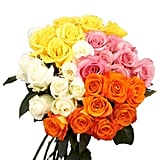 Globalrose Fresh Assorted Color Roses for Mother's Day