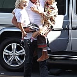 Gavin Rossdale took his little rock stars Kingston and Zuma to run errands in LA.