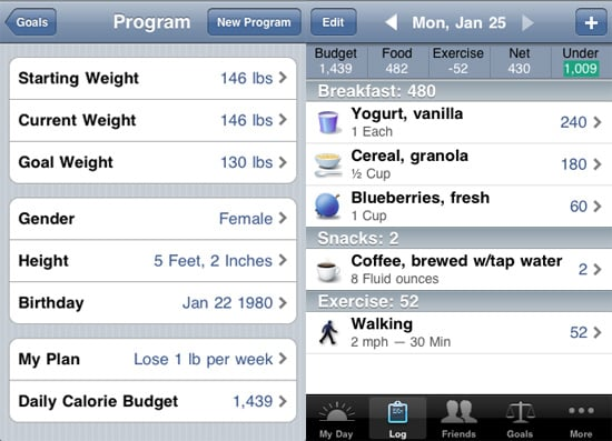 Lose It iPhone App Helps You Reach Weight Loss Goal With ...
