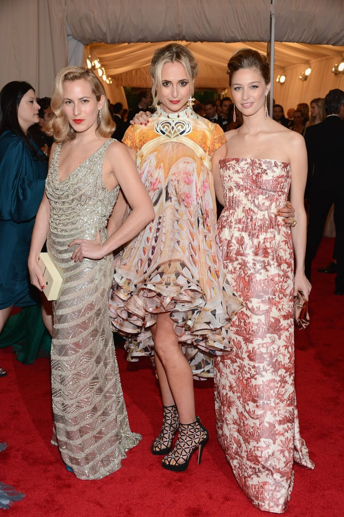 Princess Elisabeth (center) went for an eclectically glam look at the Met Gala in May 2012.