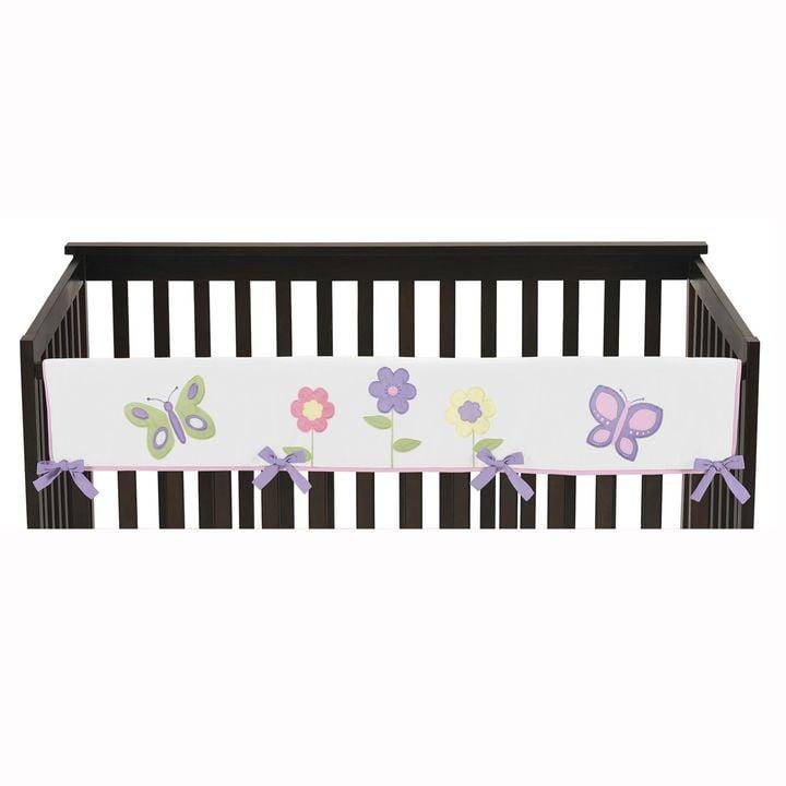 Sweet Jojo Designs Butterfly Long Crib Rail Guard