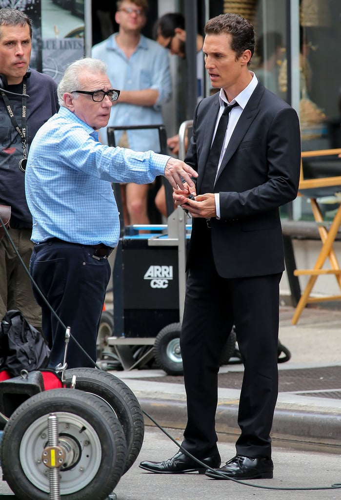 Matthew McConaughey talked with director Martin Scorsese.