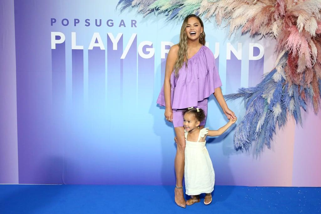 Chrissy Teigen and Luna Stephens at POPSUGAR Play/Ground