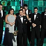 Stephen Colbert gave an acceptance speech when The Colbert Show won.