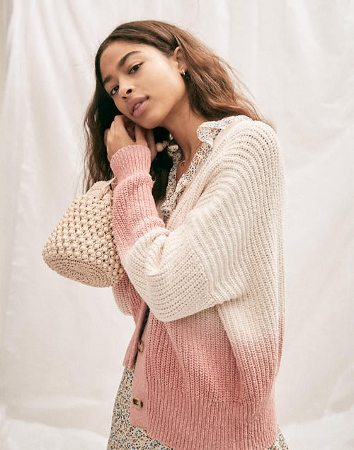 Dip-Dye Courtland Cardigan Sweater