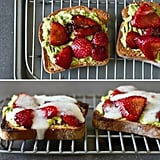 Avocado, Strawberry, and Goat Cheese Sandwich