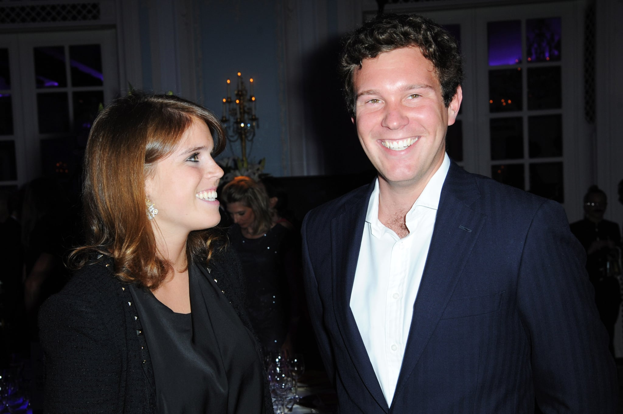 LONDON, ENGLAND - SEPTEMBER 03: R-L Jack Brooksbank and Princess Eugenie of York attend the second annual