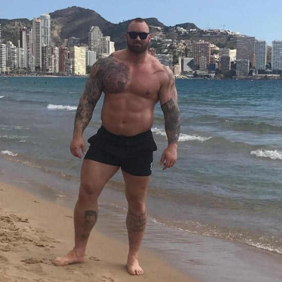 Games of Thrones The Mountain Instagram Photo on the Beach