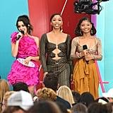 Laura Marano, Chloe Bailey, and Halle Bailey at the Teen Choice Awards 2019