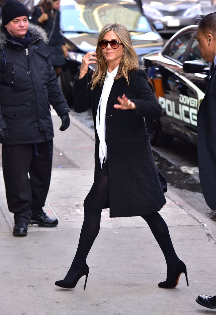 Jennifer Aniston Wearing Tights