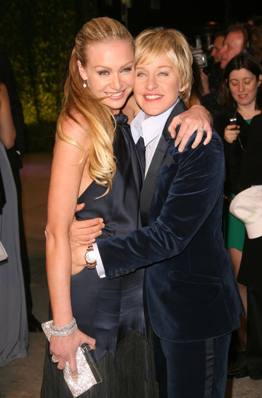 Ellen Degeneres And Portia De Rossi Pda Pictures Popsugar Celebrity