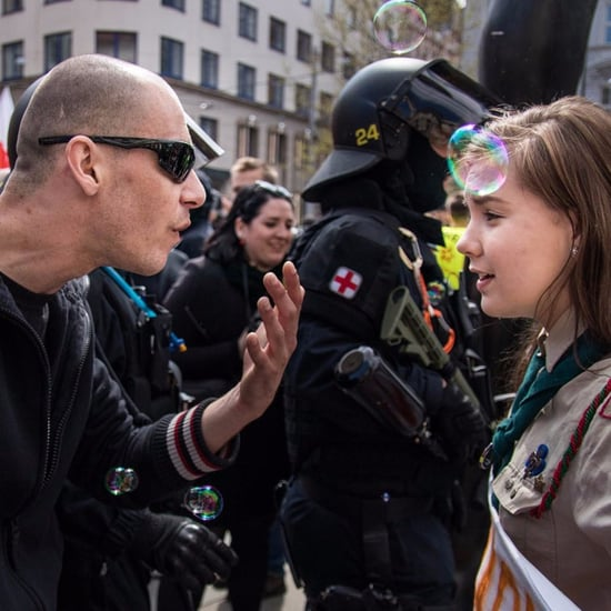 Girl Scout Stand Up to Neo-Nazi Photo Czech Republic